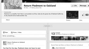 Facebook page demands Piedmont's return