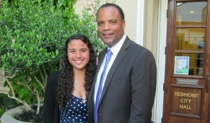 Principal Brent Daniels (pictured with his daughter) has taken on a new position with Berkeley Unified School District.