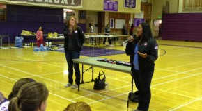 Olympians encourage students to pursue dreams