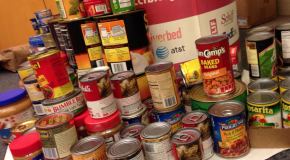 With emphasis on healthy balance, students donate food