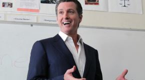 Gavin Newsom speaks at Millennium