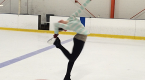 Zimmerman dedicates herself to ice skating