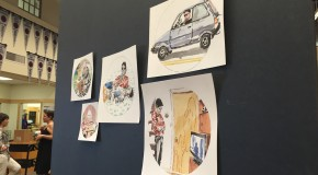 Art show takes over library