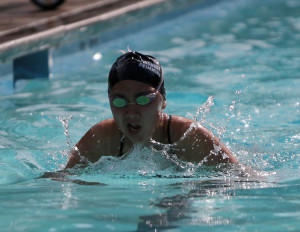 Women's varsity swimming placed third in the WACC league. The varsity women's team only lost to Alameda this season with a record of 7-1.