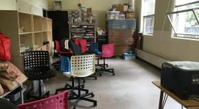 Unused art storage room converts to digital media lab
