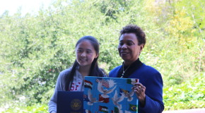 Congresswoman Barbara Lee visits PHS to surprise the winner of California District 13 Congressional Art Competition